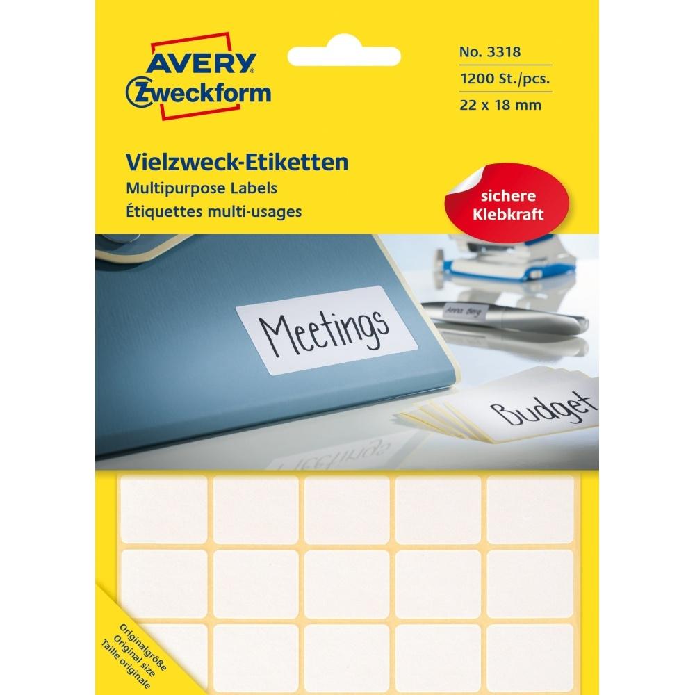 Avery zweckform etiketten 3318 wei brevo for Avery etiketten
