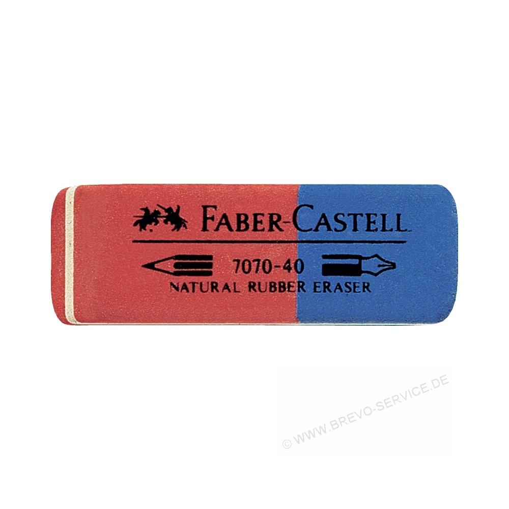 20x Faber-Castell Radiergummi Radierer Latex-free Eraser Kombiradierer rot//blau