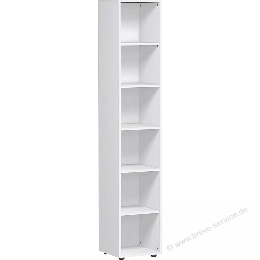 Geramöbel Regal Mailand 6 Fachböden 40 x 216 x 40 cm weiß,