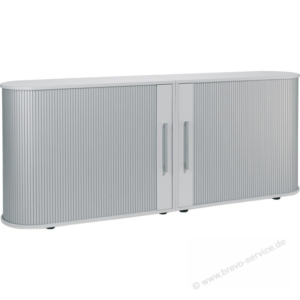 Geramöbel Sideboard Lissabon 200 x 83 x 40 cm lichtgrau, brevo-service