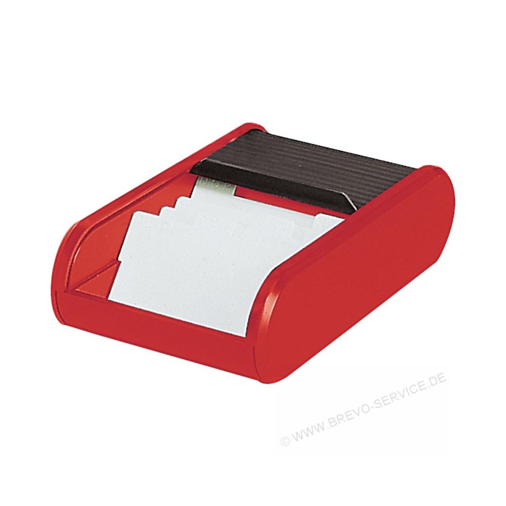 Helit Visitenkartenbox H6218092 Schwarz Rot