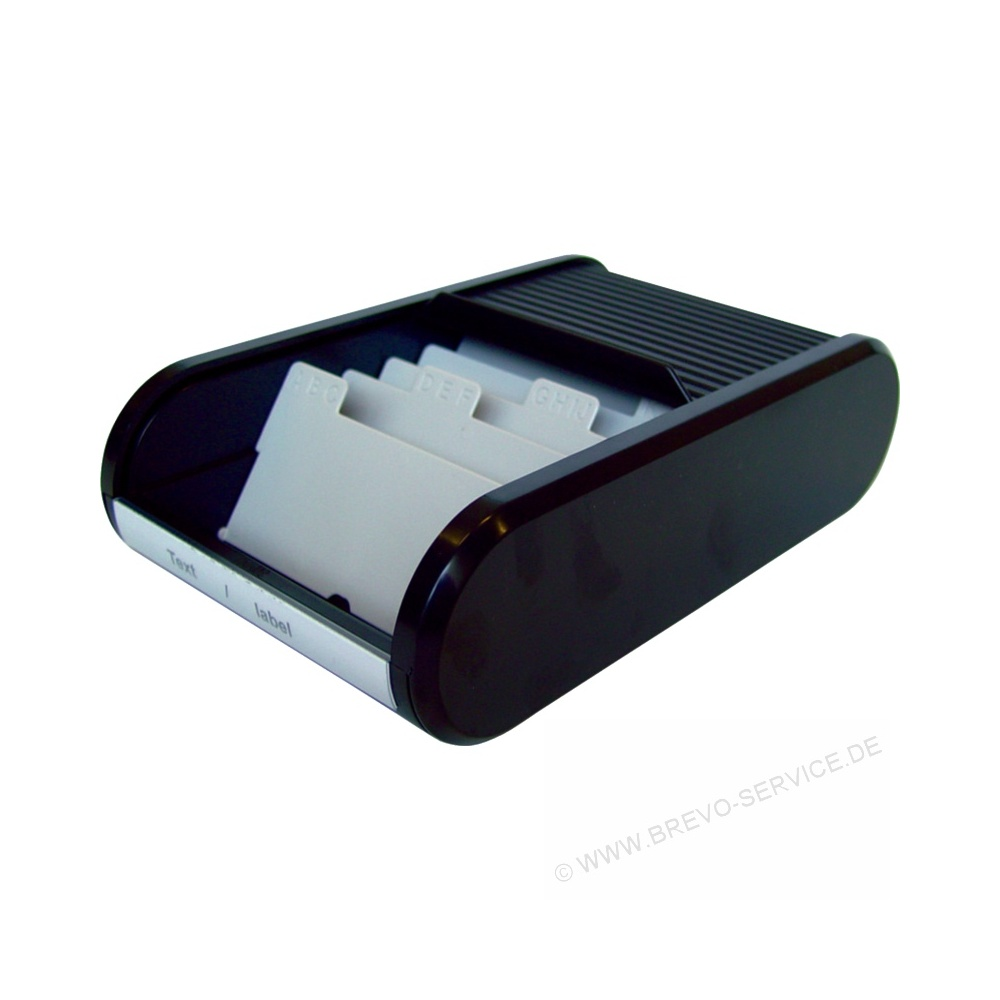 Visitenkartenaufbewahrung Helit H6218095 Visitenkartenbox schwarz