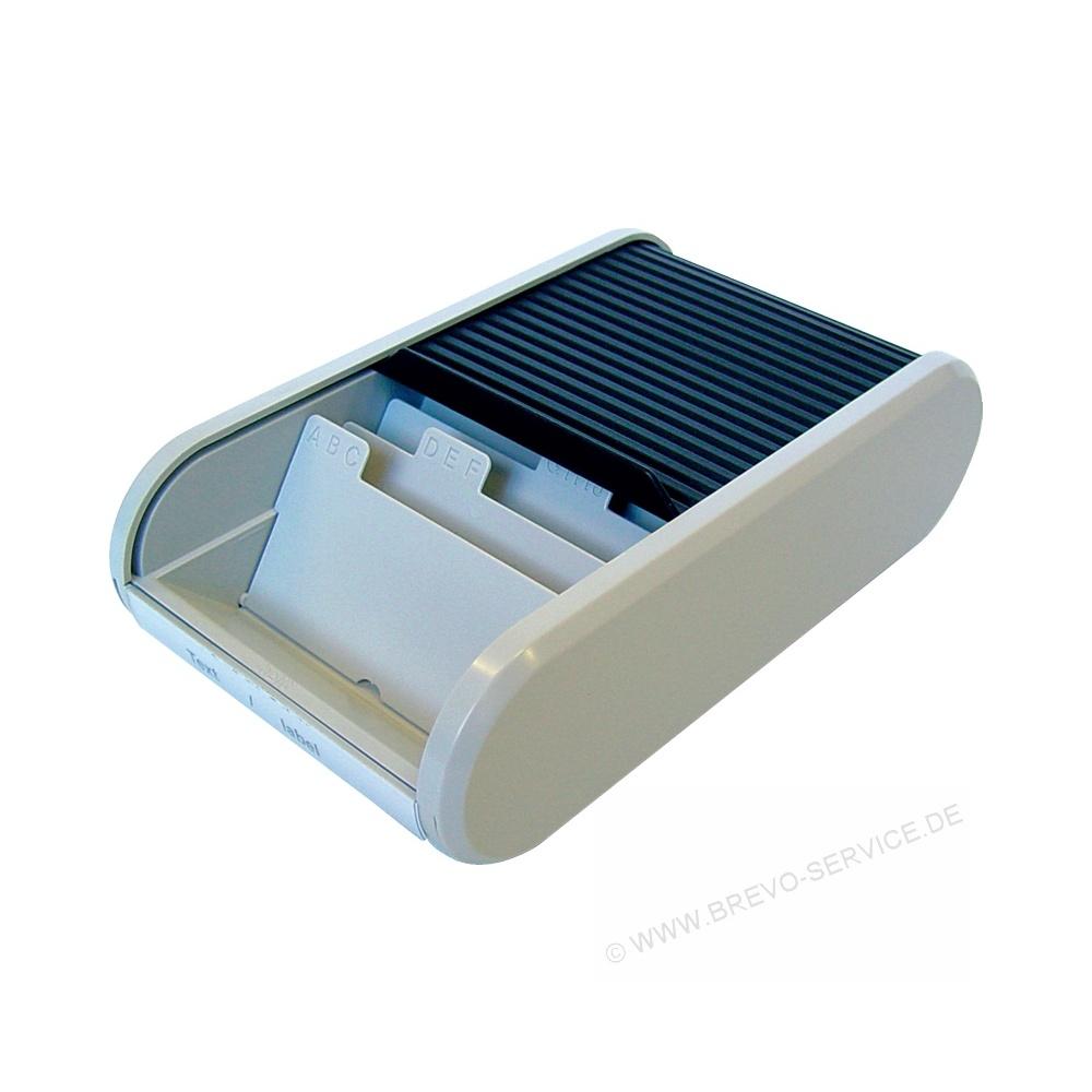 Helit Visitenkartenbox H6218098 Schwarz Lichtgrau