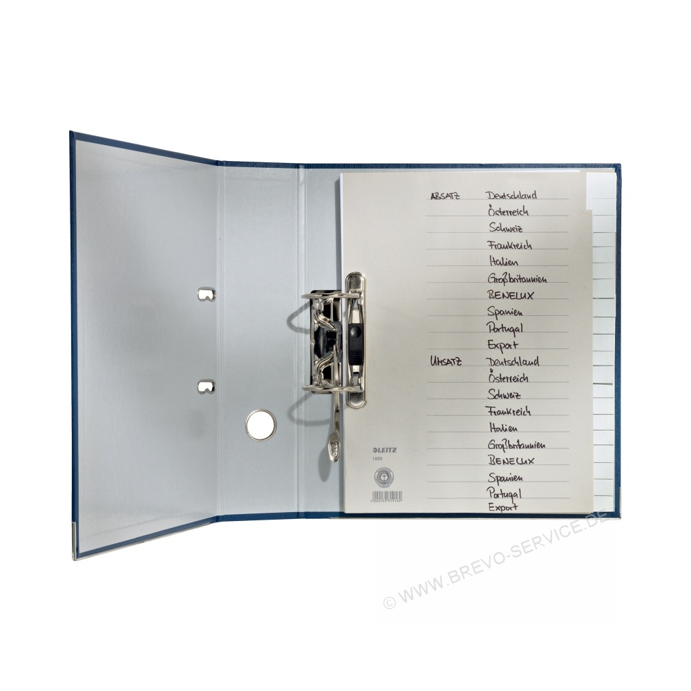 leitz papier register 1224 din a4 halbe h he blanko grau 15 blatt bre. Black Bedroom Furniture Sets. Home Design Ideas