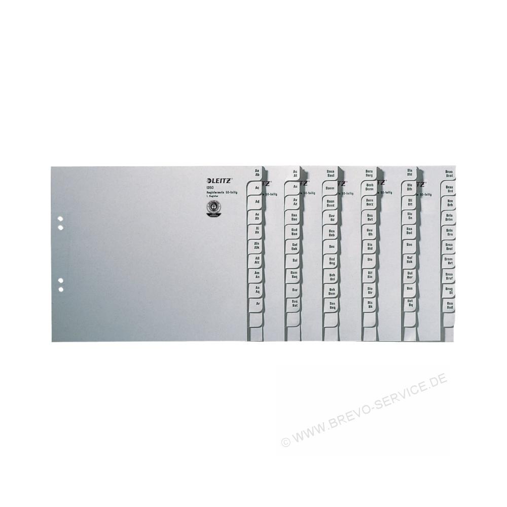 Leitz Serienregister 1350 A4 50 Teilig Grau Brevo Servicede