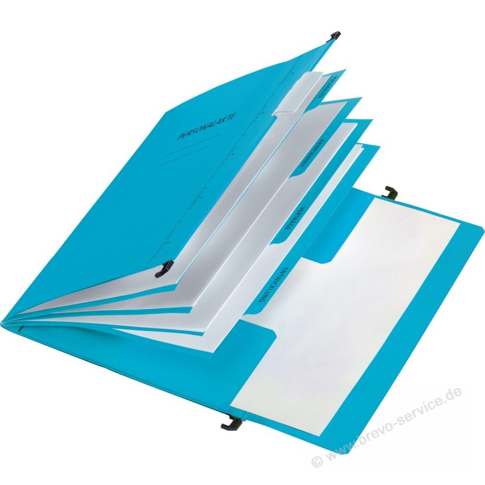 pagna personalmappe din a4 mit organisationsaufdruck karton blau brevo ser. Black Bedroom Furniture Sets. Home Design Ideas