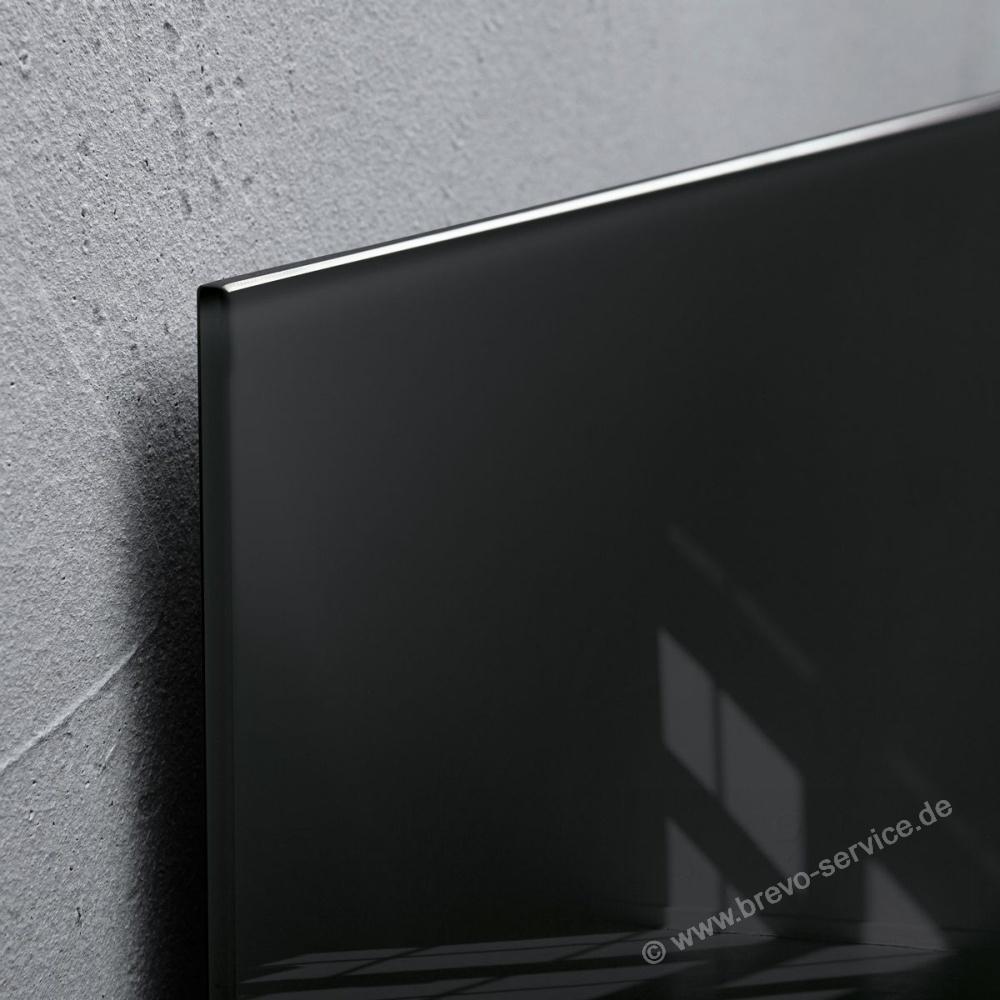 sigel glasboard artverum 91 x 46 glas schwarz brevo. Black Bedroom Furniture Sets. Home Design Ideas