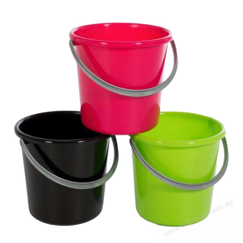teko plastic colorful haushalts eimer 5 liter brevo. Black Bedroom Furniture Sets. Home Design Ideas