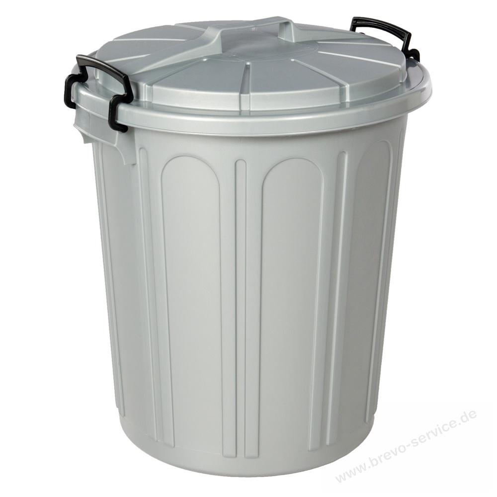 Teko Uni Tonne Mülltonne 23 Liter Rund Silber Brevo Servicede