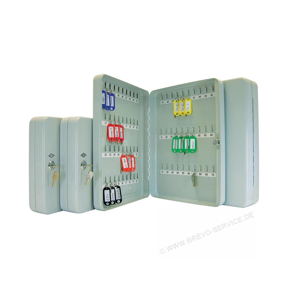 Wedo Schlüsselkasten für 70 Schlüssel lichtgrau, brevo-servi