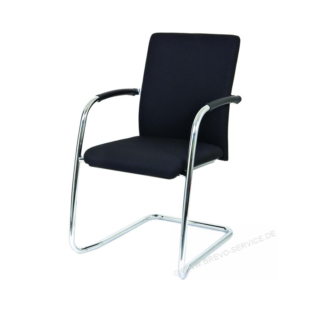Sympathisch Freischwinger Ideen Von Chairsupply Besucherstuhl F120sb Chrom Schwarz