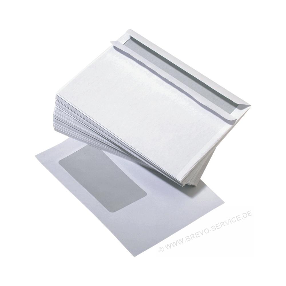 Briefhüllen C6 Mit Fenster Selbstklebend Weiß 25er Pack Brevo S