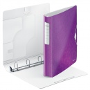 Leitz Ringbuch Active WOW 42400062 A4 4 Ringe 30 mm violett metallic