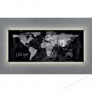 Sigel Glas Magnetboard artverum GL410 LED light Design World-Map schwarz
