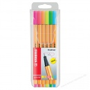 Stabilo Fineliner point 88 6er Set Neon