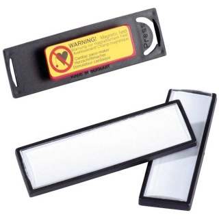 Durable Namensschild 8132 17 x 67 mm mit Magnet 25er Pack