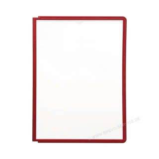 Durable Sichttafel Sherpa Panel 560603 rot