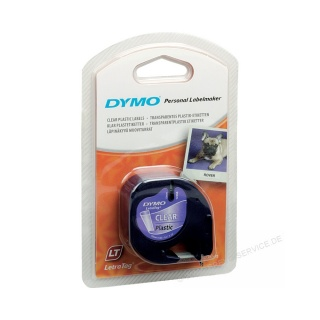 Dymo Schriftband LetraTag 16951 S0721550 12mm Kunststoff sw - transp.