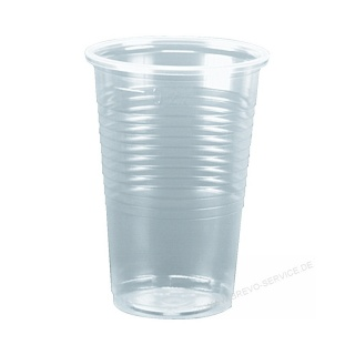 Papstar 12149 Trinkbecher 0,2 Liter transparent 100er Pack